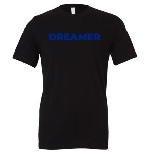 DREAMER - Black-Blue Motivational T-Shirt | EntreVisionU
