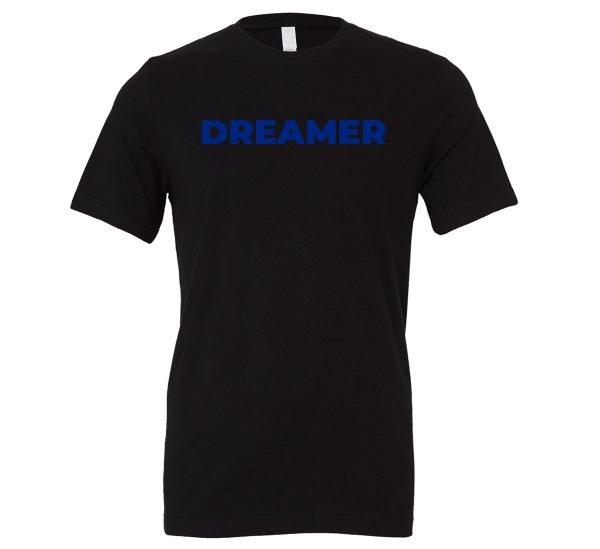 DREAMER - Black-Blue Motivational T-Shirt | EntreVisionU