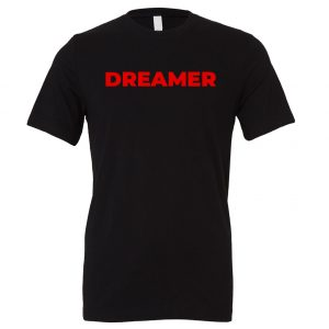 DREAMER - Black-Red Motivational T-Shirt | EntreVisionU