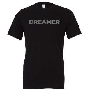 DREAMER - Black-Silver Motivational T-Shirt | EntreVisionU