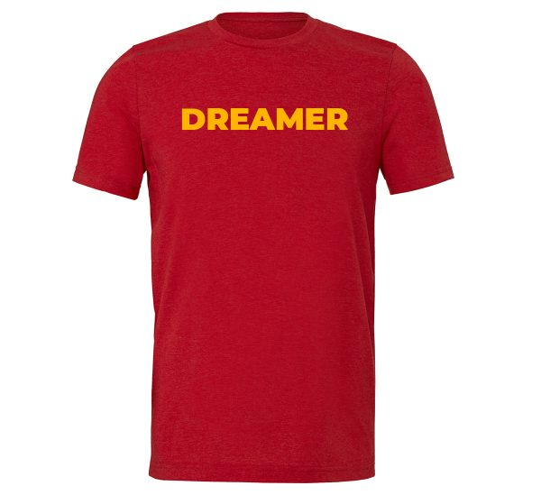 Dreamer - Red-Yellow Motivational T-Shirt | EntreVisionU