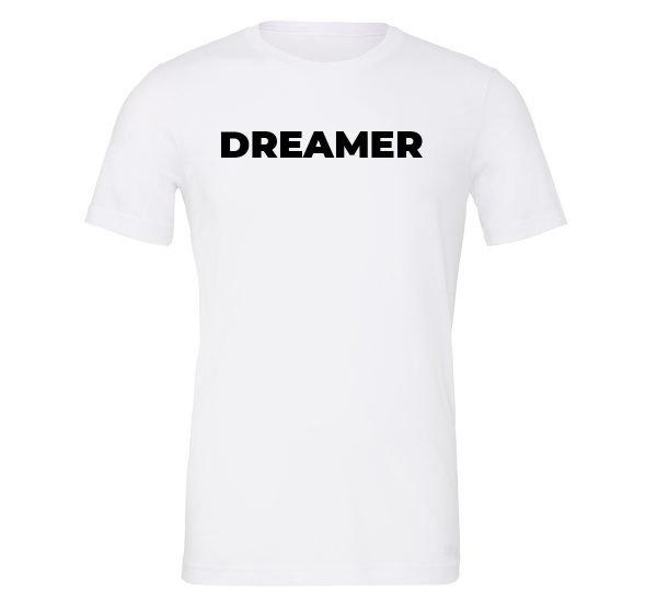 Dreamer - White-Black Motivational T-Shirt | EntreVisionU