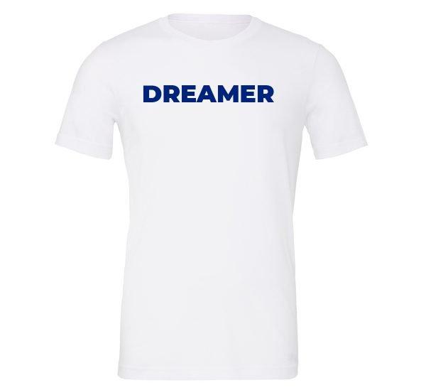Dreamer - White-Blue Motivational T-Shirt | EntreVisionU