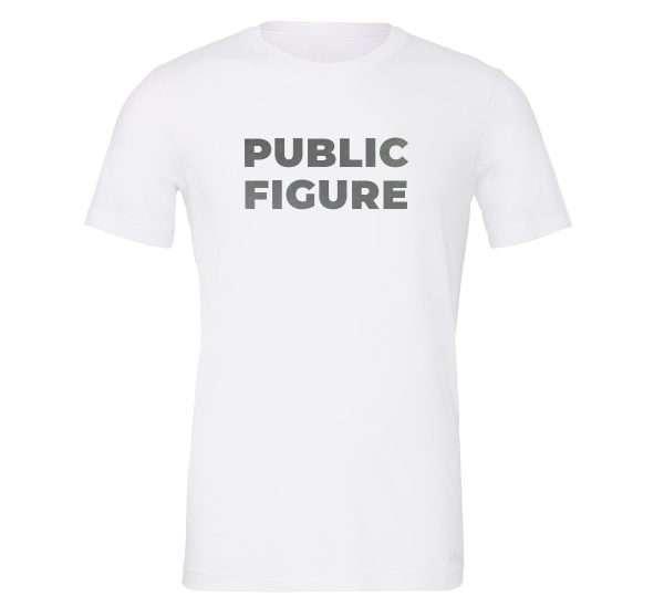 Public Figure - White-Silver Motivational T-Shirt | EntreVisionU