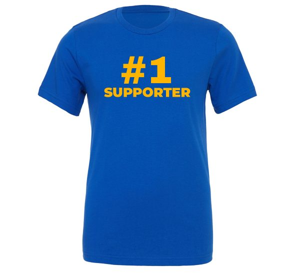 #1 Supporter - Blue_Yellow Motivational T-Shirt | EntreVisionU
