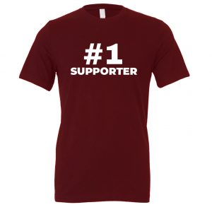 #1 Supporter - Maroon_White Motivational T-Shirt | EntreVisionU