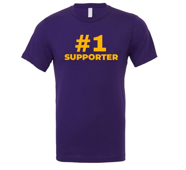 #1 Supporter - Purple_Yellow Motivational T-Shirt | EntreVisionU