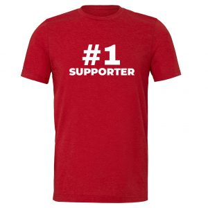 #1 Supporter - Red_White Motivational T-Shirt | EntreVisionU
