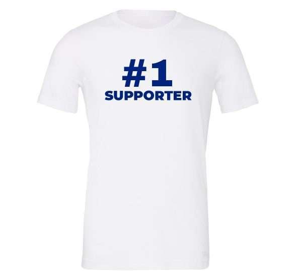 #1 Supporter - White_Blue Motivational T-Shirt | EntreVisionU