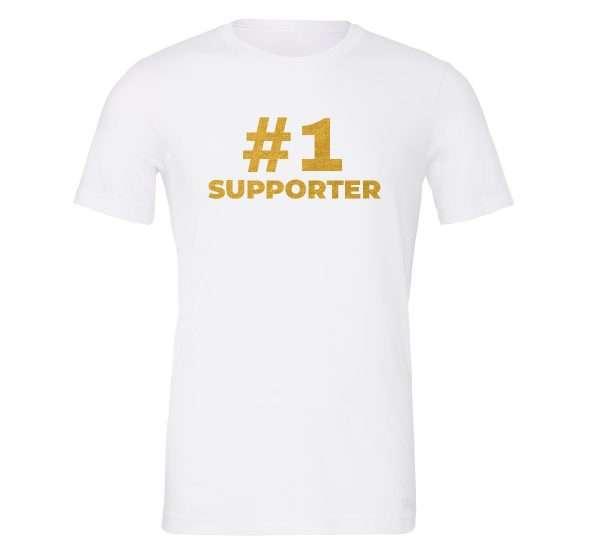 #1 Supporter - White_Gold Motivational T-Shirt | EntreVisionU