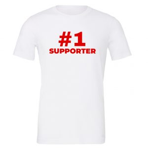 #1 Supporter - White_Red Motivational T-Shirt | EntreVisionU