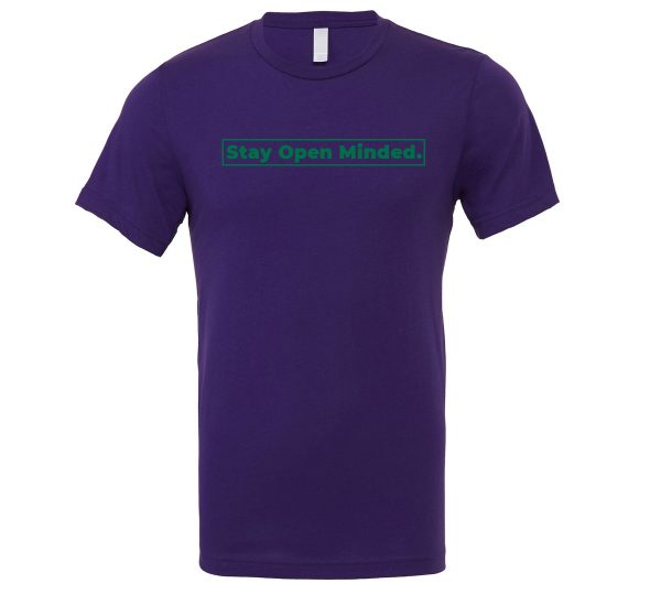 Stay Open Minded - Purple_Green Motivational T-Shirt | EntreVisionU