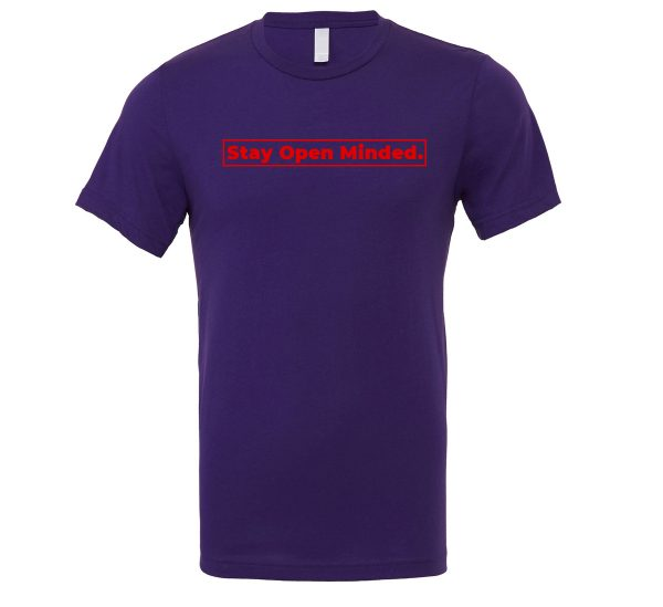 Stay Open Minded - Purple_Red Motivational T-Shirt | EntreVisionU