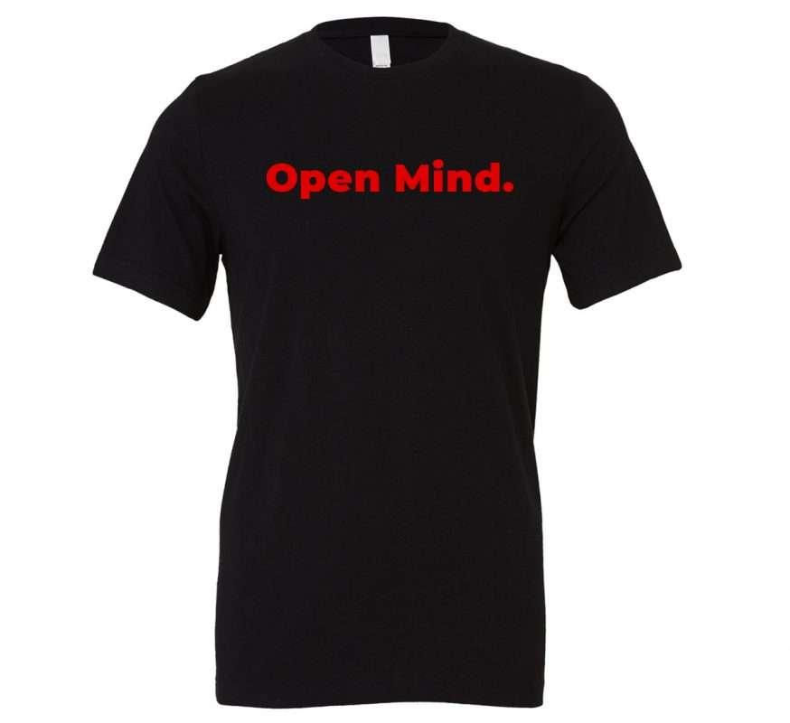 Open Mind - Black_Red Motivational T-Shirt | EntreVisionU