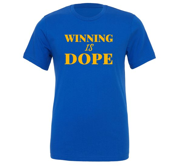 Winning is Dope - Blue_Yellow Motivational T-Shirt | EntreVisionU