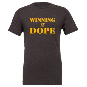 Winning is Dope - Dark-Gray_Yellow Motivational T-Shirt | EntreVisionU