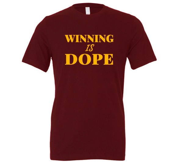 Winning is Dope - Maroon_Yellow Motivational T-Shirt | EntreVisionU
