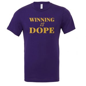 Winning is Dope - Purple_Gold Motivational T-Shirt | EntreVisionU