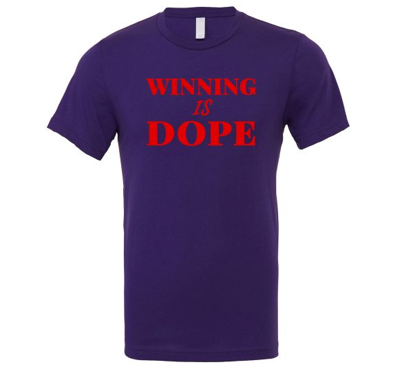 Winning is Dope - Purple_Red Motivational T-Shirt | EntreVisionU