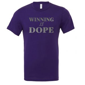 Winning is Dope - Purple_Silver Motivational T-Shirt | EntreVisionU
