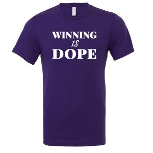 Winning is Dope - Purple_White Motivational T-Shirt | EntreVisionU