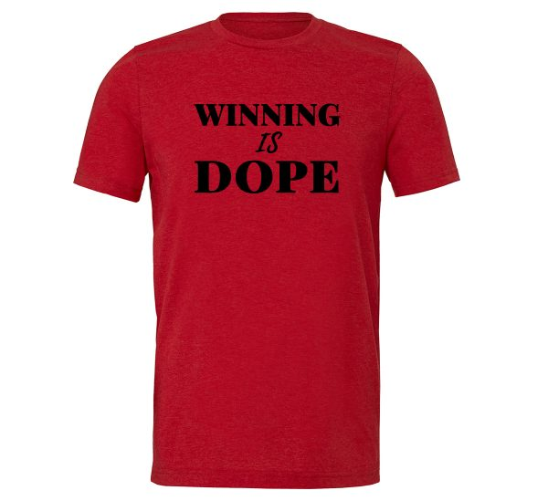 Winning is Dope - Red_Black Motivational T-Shirt | EntreVisionU
