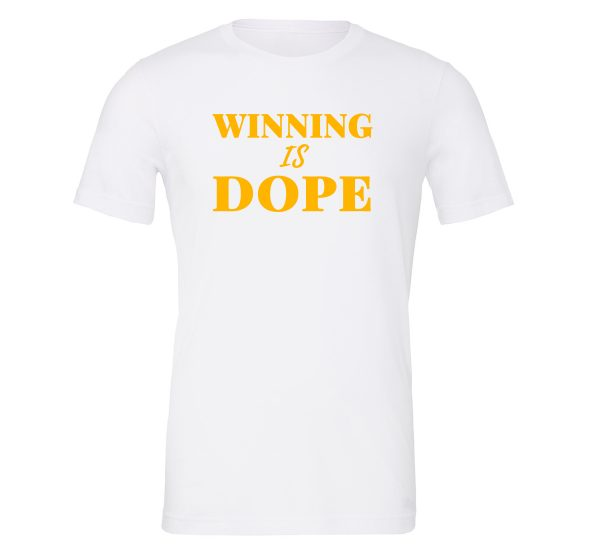 Winning is Dope - White_Yellow Motivational T-Shirt | EntreVisionU.