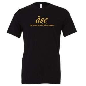 ASE - Black_Gold Motivational T-Shirt | EntreVisionU