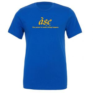 ASE - Blue_Yellow Motivational T-Shirt | EntreVisionU