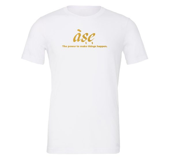 ASE - White_Gold Motivational T-Shirt | EntreVisionU