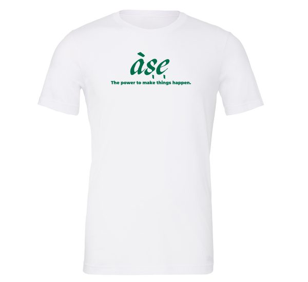 ASE - White_Green Motivational T-Shirt | EntreVisionU