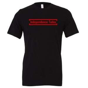 Independence Today - Black_Red Motivational T-Shirt | EntreVisionU