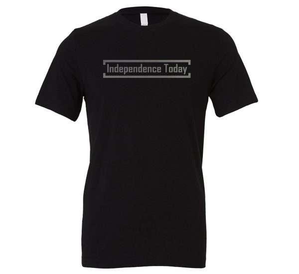 Independence Today - Black_Silver Motivational T-Shirt | EntreVisionU