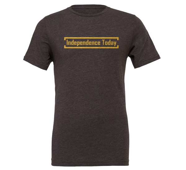 Independence Today - Dark-Gray_Gold Motivational T-Shirt | EntreVisionU