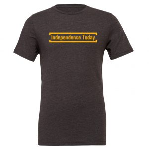 Independence Today - Dark-Gray_Yellow Motivational T-Shirt | EntreVisionU