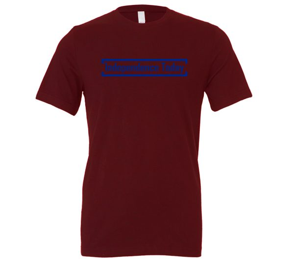 Independence Today - Maroon_Blue Motivational T-Shirt | EntreVisionU