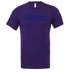 Independence Today - Purple_Blue Motivational T-Shirt | EntreVisionU