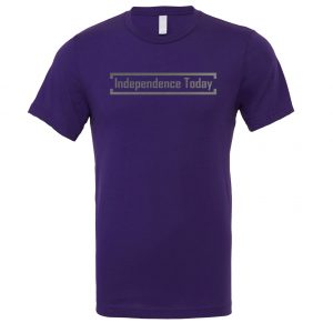 Independence Today - Purple_Silver Motivational T-Shirt | EntreVisionU