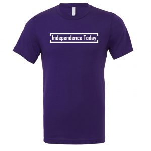 Independence Today - Purple_White Motivational T-Shirt | EntreVisionU