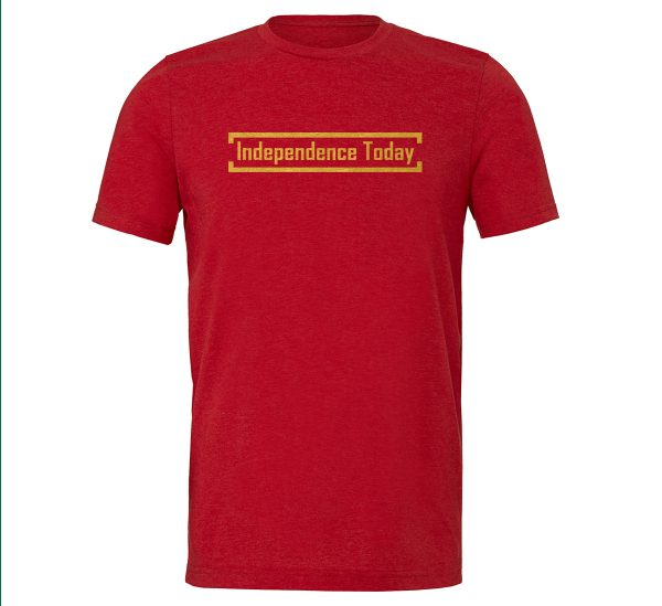 Independence Today - Red_Gold Motivational T-Shirt | EntreVisionU