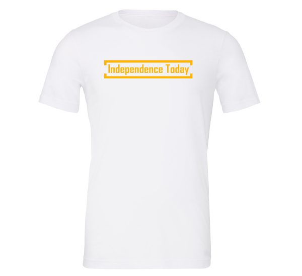 Independence Today - White_Yellow Motivational T-Shirt | EntreVisionU